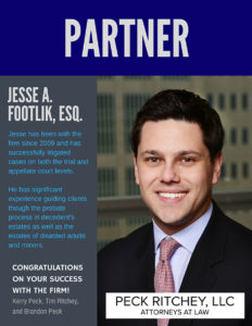 Congratulations Jesse A. on your success with the firm!